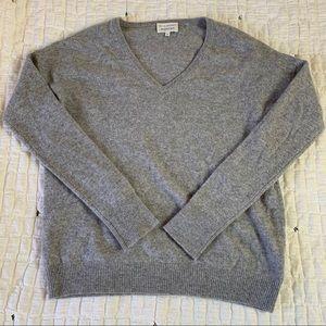 White + Warren V-Neck Sweater   Anthropoloie